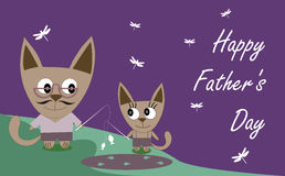 Sweet card for Fathers Day Royalty Free Stock Photography