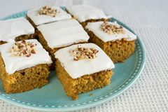 Sweet carrot cake Stock Photos