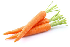 Sweet carrots. On a white background Stock Images
