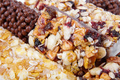 Sweet cereal bar Royalty Free Stock Photography