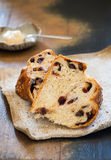 Sweet challah bread with chocolate and cranberries Stock Photography