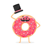 Sweet character with moustache and hat. Royalty Free Stock Images
