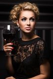 Sweet and charming lady with unknown secrets Stock Images