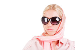 Sweet charming young girl in sunglasses Royalty Free Stock Image