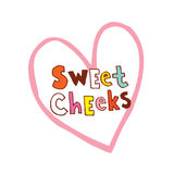 Sweet cheeks. Hearts haped design Stock Photo