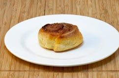 Sweet cheese pancake on white plate Royalty Free Stock Photo