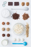 Sweet Cheese Truffles Stock Images