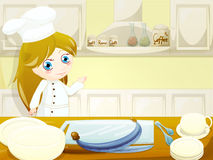Sweet chef. Funny character in the kitchen Royalty Free Stock Photos