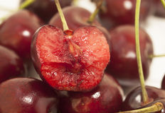 Sweet cherries as a background. close up Royalty Free Stock Photo