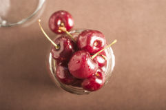 Sweet cherries as a background/ full frame Stock Photography