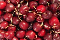 Sweet cherries background Royalty Free Stock Photos