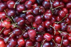 Sweet cherries background Stock Photo