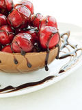 Sweet cherries in chocolate Royalty Free Stock Images