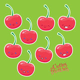 Sweet cherries with different emotions Royalty Free Stock Photography