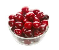 Sweet cherries in glass ware Stock Images