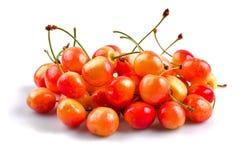 Sweet cherries isolated Stock Photos