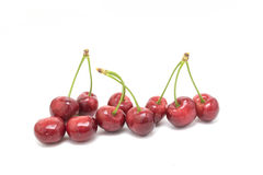 Sweet cherries isolated on white background Stock Images