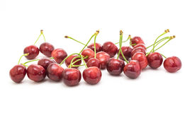 Sweet cherries isolated on white background Royalty Free Stock Photos
