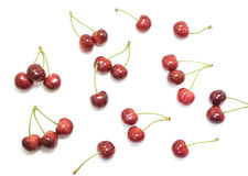 Sweet cherries isolated on white background Royalty Free Stock Images