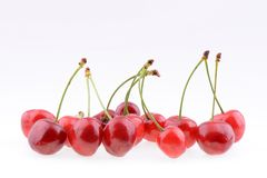 Sweet cherries isolated on a white background Royalty Free Stock Photography
