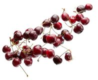Sweet cherries isolated on a white background Stock Images