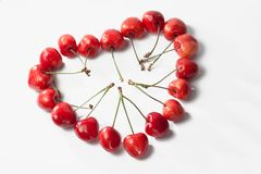 Sweet cherries love Royalty Free Stock Photos