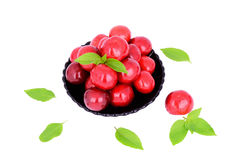 Sweet cherries in a plate Stock Photography