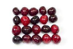 Sweet cherries rectangle Royalty Free Stock Photo