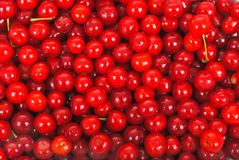 Sweet cherries texture Royalty Free Stock Photo
