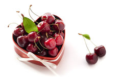 Sweet Cherries for Valentine's Day. Stock Image