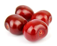 Sweet cherries on white Royalty Free Stock Images