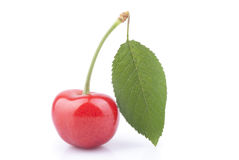 Sweet cherries. On a white background Stock Images