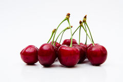 Sweet cherries on white background Stock Photo