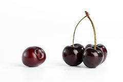 Sweet cherry. On white background stock image