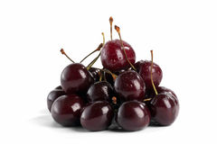 Sweet cherry. On white background Royalty Free Stock Photography
