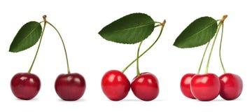 Sweet cherry. On white background Royalty Free Stock Photo