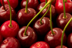 Sweet cherry. In a plate Royalty Free Stock Image