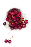Sweet cherry in bowl Royalty Free Stock Photo