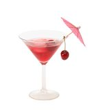 Sweet Cherry Brandy in a Martini Glass royalty free stock photos
