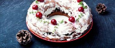 Sweet cherry cake Stock Image