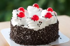 Sweet Cherry Cake Royalty Free Stock Images