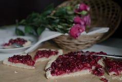 Sweet cherry dessert Stock Photos
