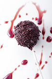Sweet  cherry flavored cakepops Stock Images