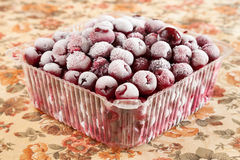 Sweet cherry frozen Royalty Free Stock Images