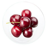 Sweet cherry in glass bowl Royalty Free Stock Images