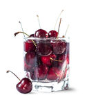 Sweet cherry in the glass Royalty Free Stock Images