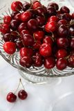 Sweet cherry in glass-ware Royalty Free Stock Image