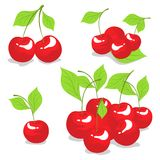 Sweet cherry isolated on white Royalty Free Stock Photos