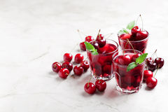 Sweet cherry jelly Stock Photography
