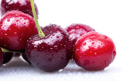 Sweet cherry macro background Royalty Free Stock Images